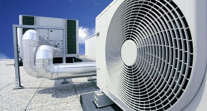 HVAC unit installed on a roof